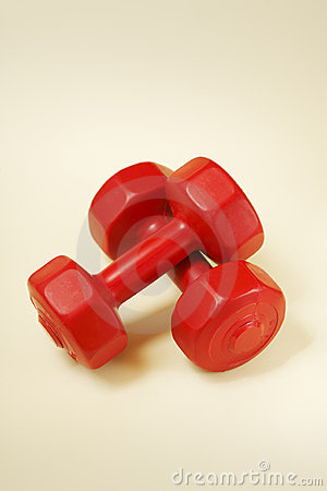 Red dumbells