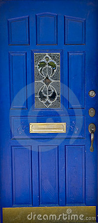 Ornate Blue Door