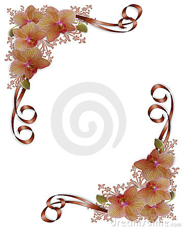 Orchids Floral Wedding Border
