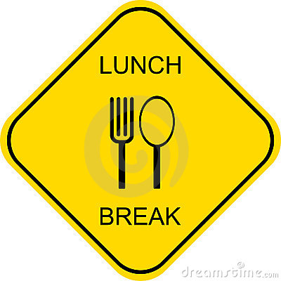 Lunch break - vector sign