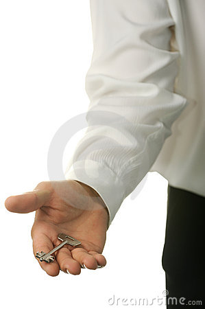 The young businessman with a key in a hand