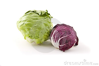 Cabbage on white