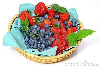 Blueberries, Strawberries and Raspberries