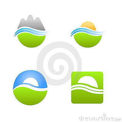 Natural products vector logo
