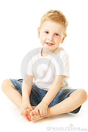 Laughing little boy
