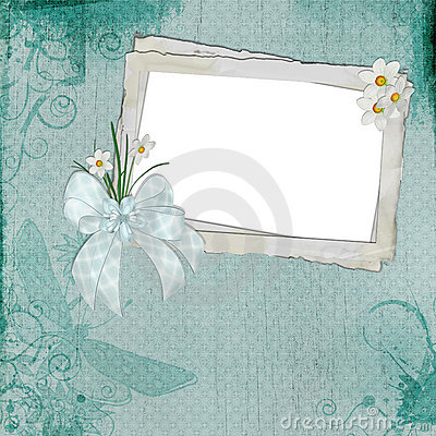 Vintage Frame with Daisies