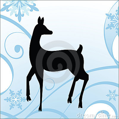 Winter Deer - Holiday Theme