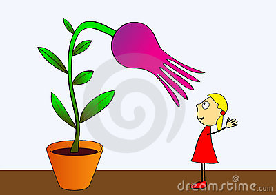 Cultivation of flowers - vector