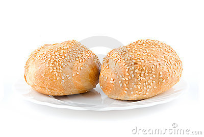 Two sesame buns