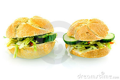 Two fresh sandwiches