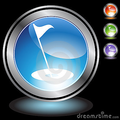 Black Chrome Icons - Golf
