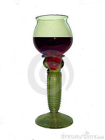Medieval green glass