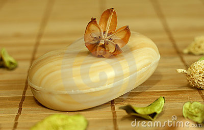 Soap with natural herbal ingredient.