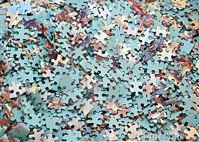 Large group of jigsaw pieces