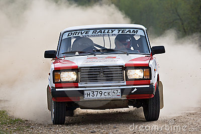 Sergey Petrov on Lada at Russian rally