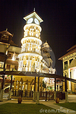 Clock Tower in Traditional Malaysian Design