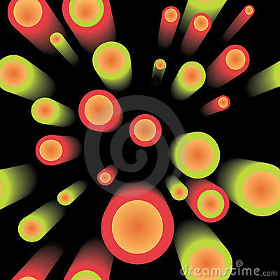 Seamless abstract 3D pattern