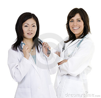 Group of confident doctors with their arms crossed displaying some attitude