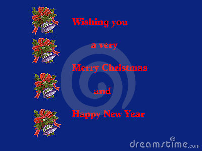 Christmas  Card in Blue Illustration