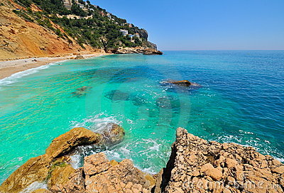Gorgeous mediterranean coast beach