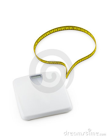 Scale and speech bubble made of tape measure
