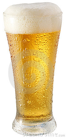 Light beer in glass