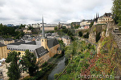 View on old Luxembourg city