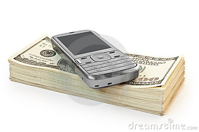Phone with money