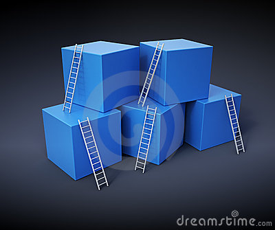 Climbing up the ladders