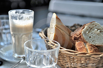 Coffee and bread basket