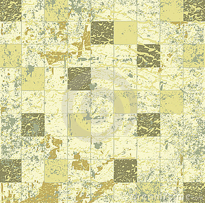 Abstract grunge mosaic tiles raster