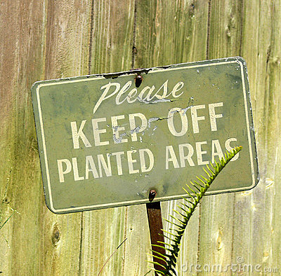 Please Keep Off Planted Areas