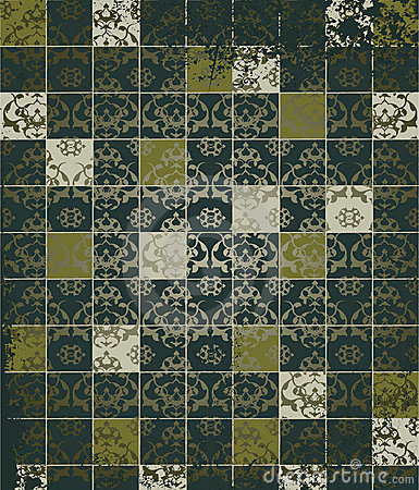 Abstract grunge mosaic tiles