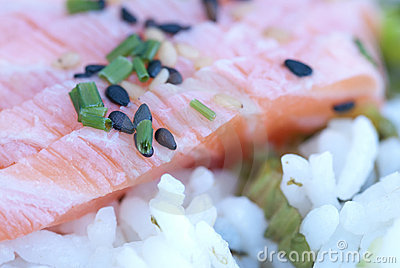 Japanese food Shashimi rice