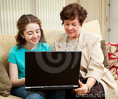 Teen and Mom Shopping Online