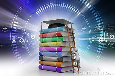 Short cut way of higher Education concept