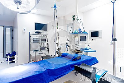 Details of technological medical equipment in surgery room. Life support systems. Surgeon life details