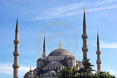 Sultanahmet against blue sky