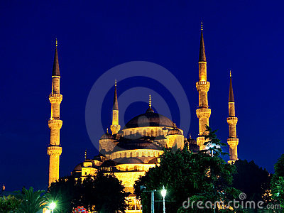 Blue Mosque on night