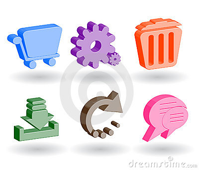 Color 3d web icons