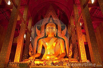 Giant Buddha image in Thailand