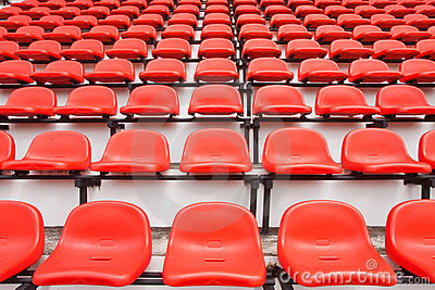Colorful seats in stadium