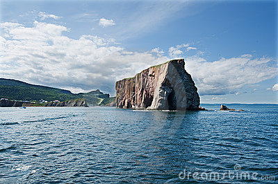 Perce rock seen from tip