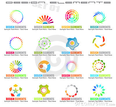 Abstract Design Elements - Set 1