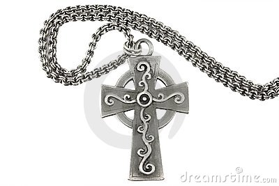 Celtic Cross and Silver Chain