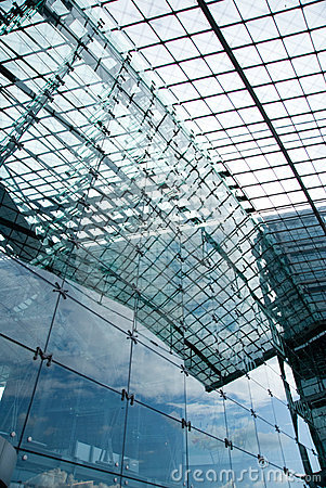 Glass building exterior