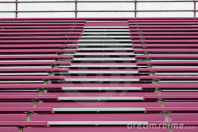 Pink stands at football stadium