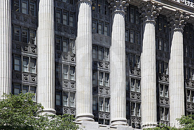 Office building with columns