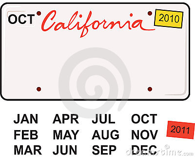 California License Plate 2010