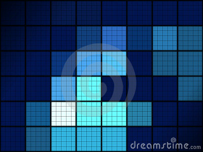 Blue grid pattern